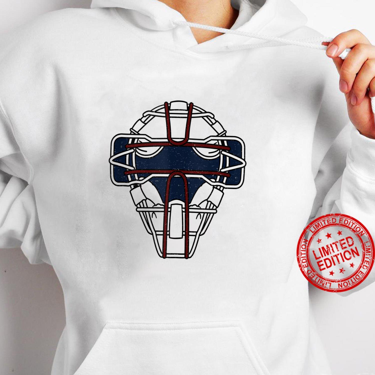 Baseball Inspired Catcher Face Mask Design Shirt hoodie
