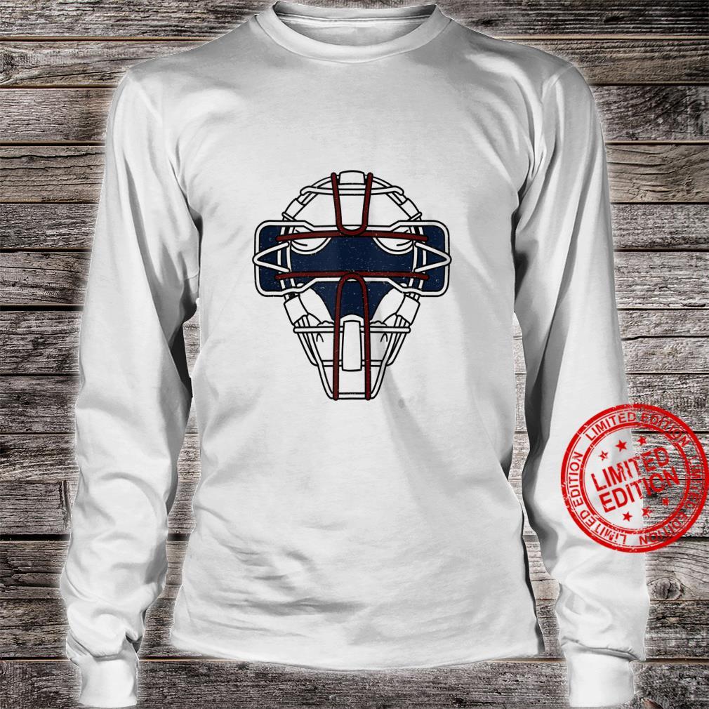 Baseball Inspired Catcher Face Mask Design Shirt long sleeved