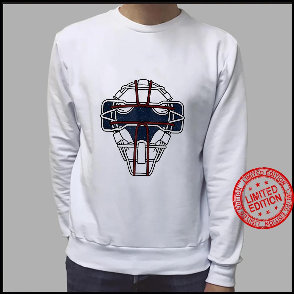 Baseball Inspired Catcher Face Mask Design Shirt sweater