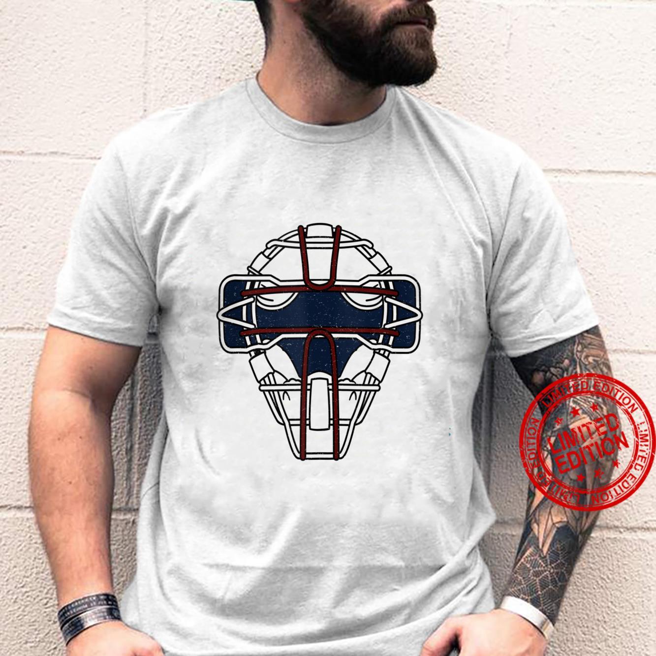 Baseball Inspired Catcher Face Mask Design Shirt