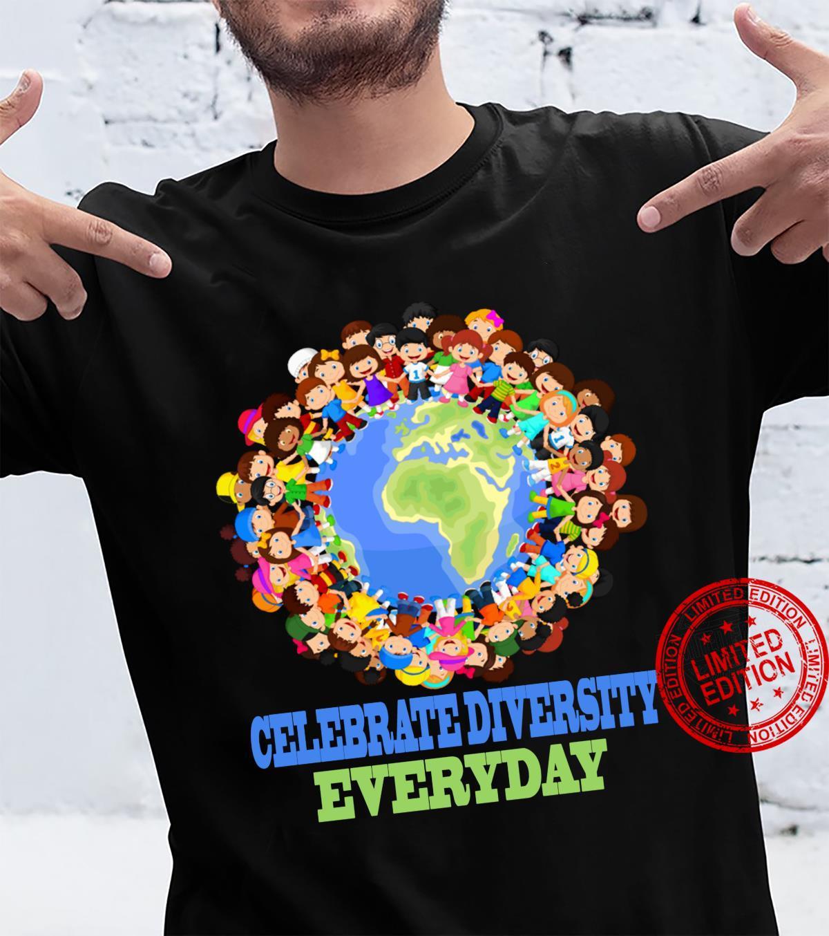 Celebrate diversity everyday student teacher family Shirt