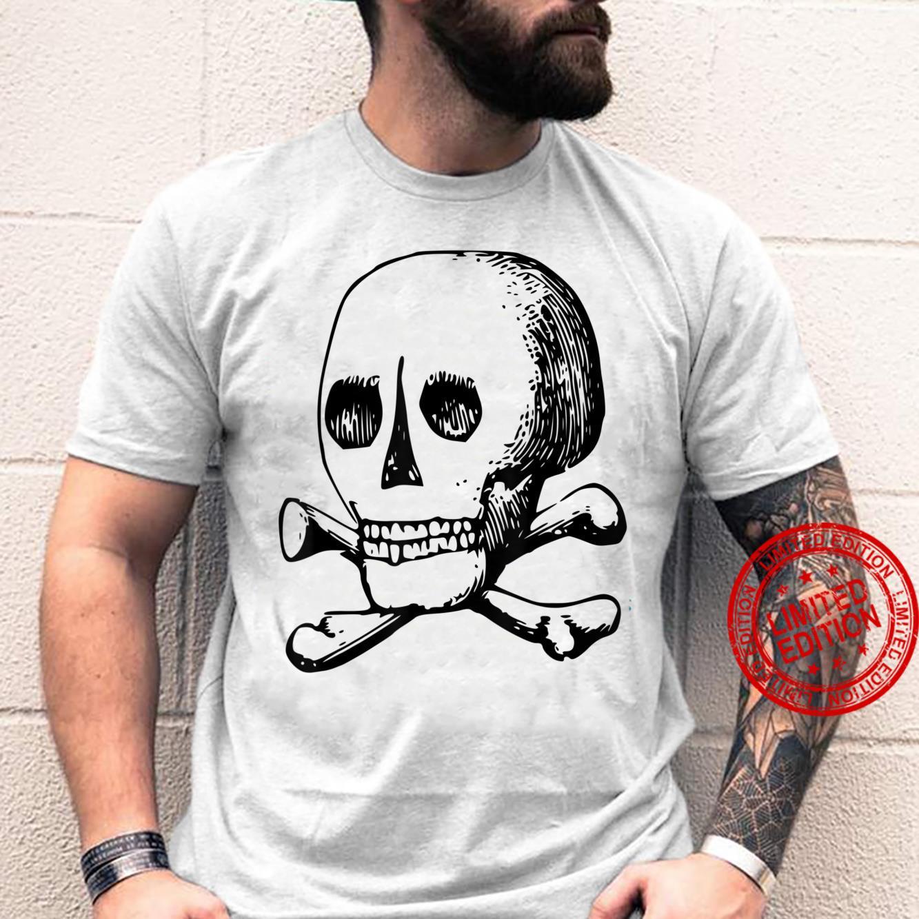 Dark Art Sketch Goth Occult Skull Gothic Aesthetic Shirt