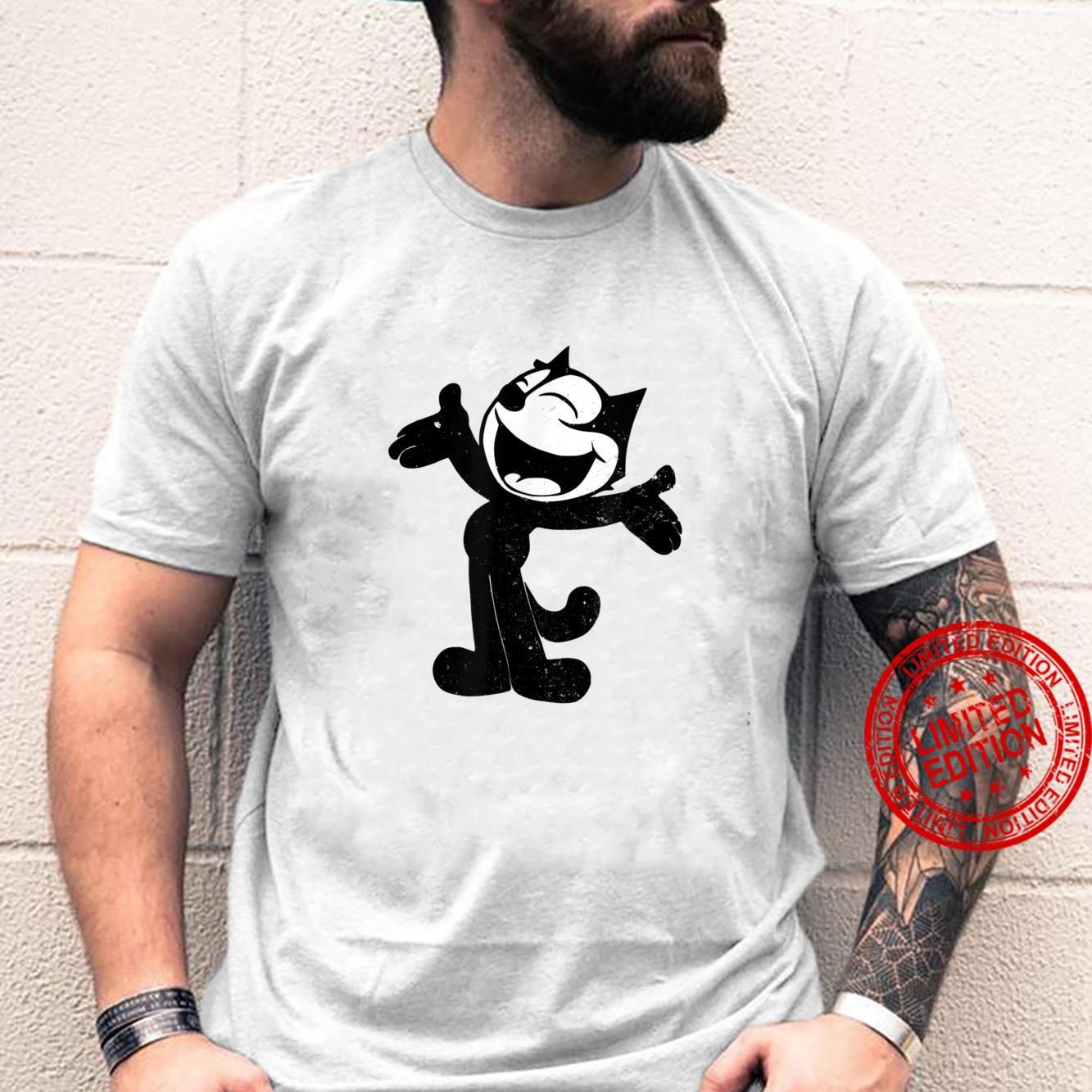 Felix Cartoon Character Laughing Black Cat Retro Shirt