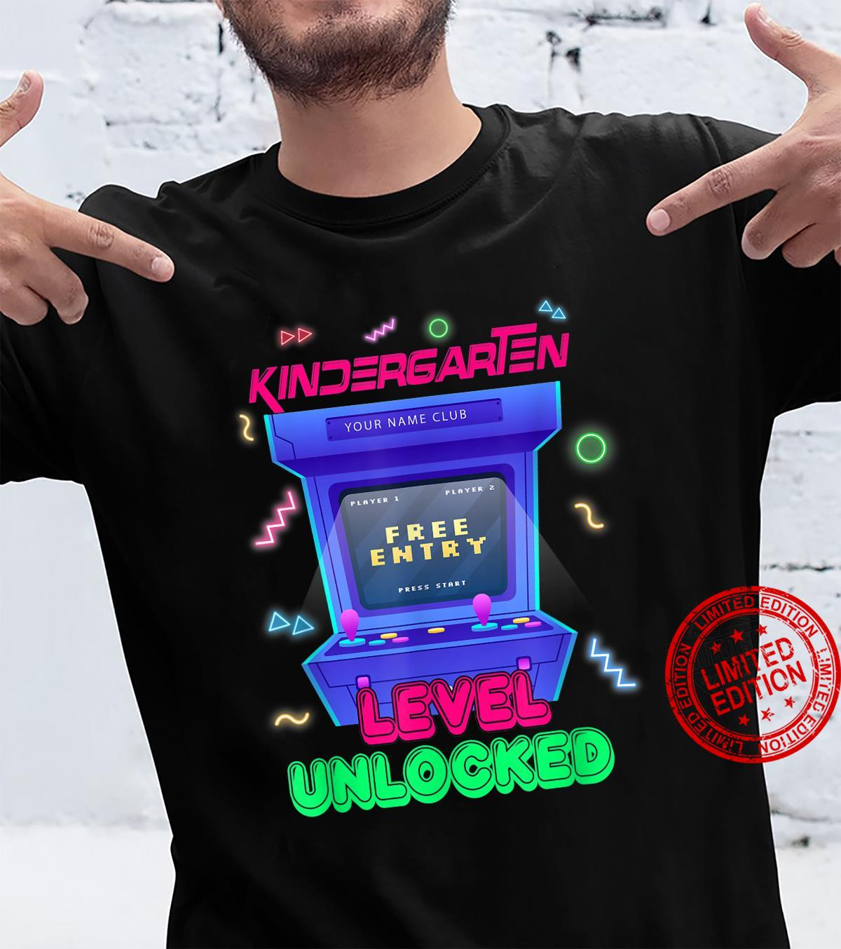 Kindergarten level unlocked First Day School Shirt
