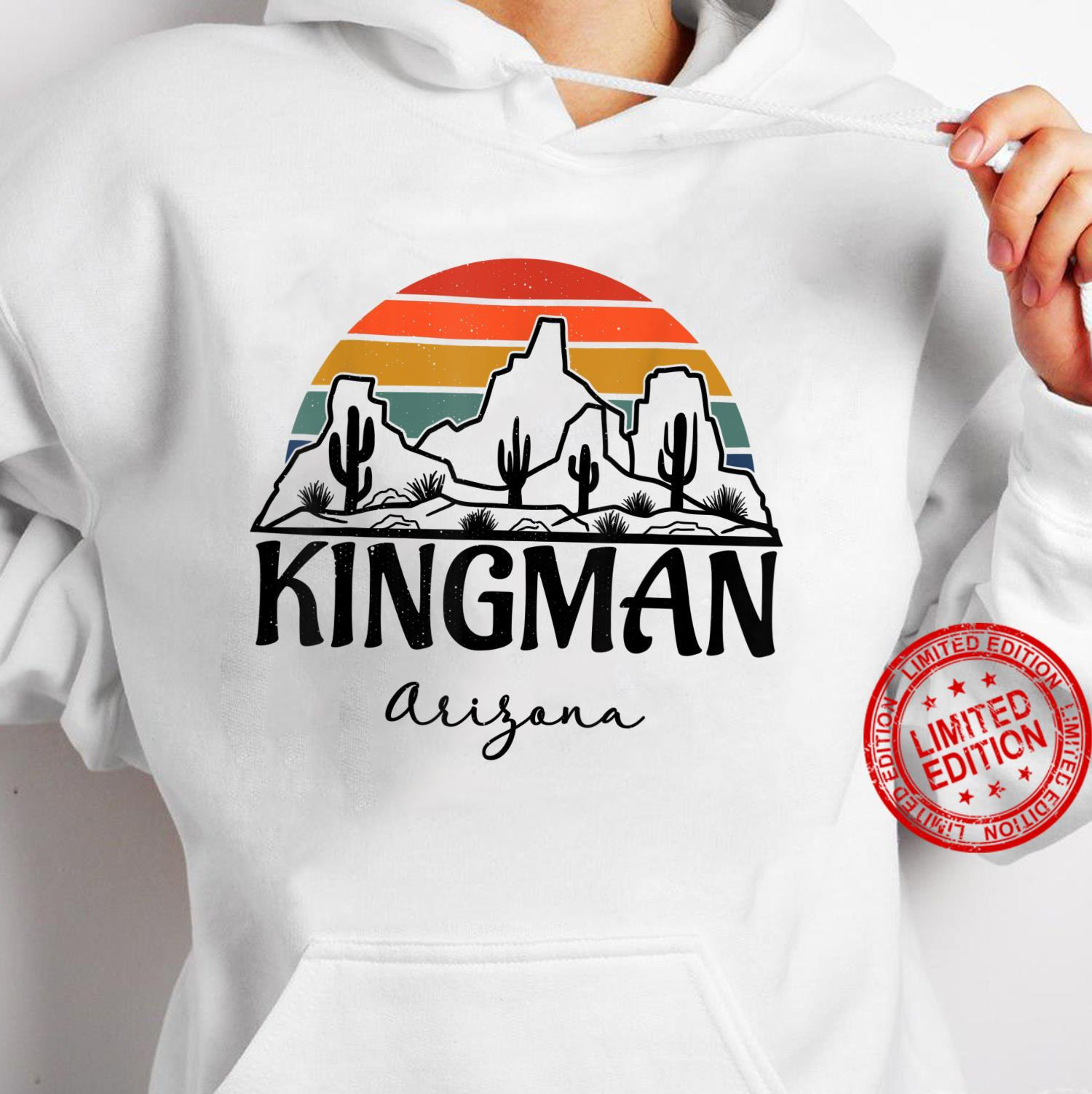 Kingman Arizona Western Cactus Mountain Desert Retro Shirt hoodie