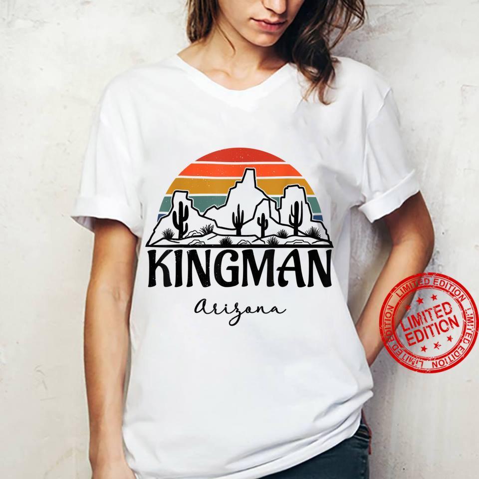 Kingman Arizona Western Cactus Mountain Desert Retro Shirt ladies tee