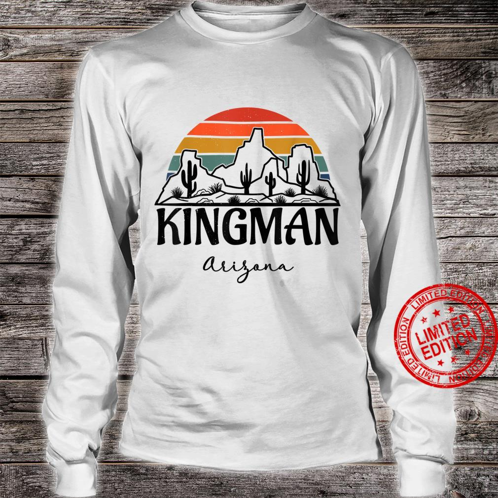 Kingman Arizona Western Cactus Mountain Desert Retro Shirt long sleeved
