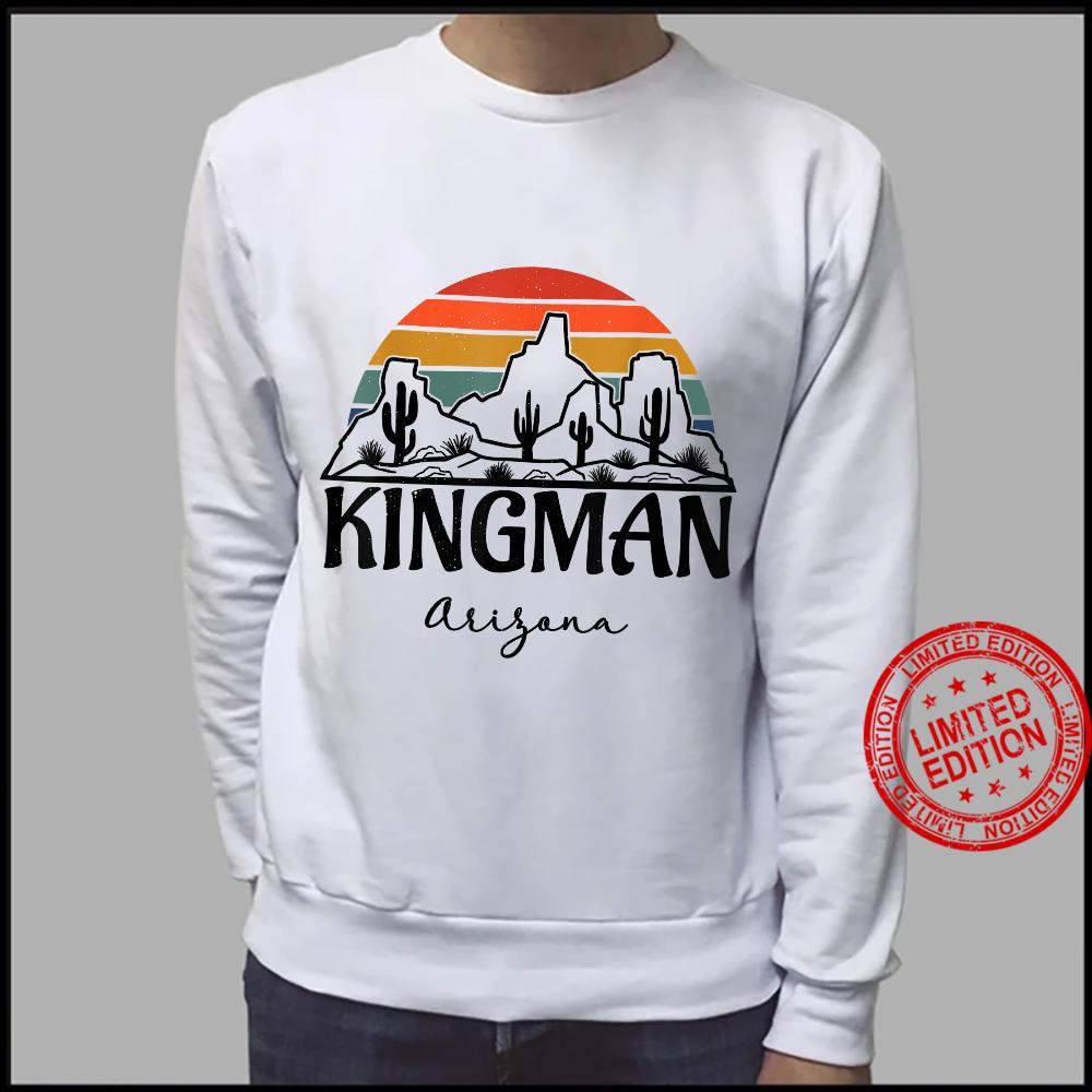 Kingman Arizona Western Cactus Mountain Desert Retro Shirt sweater