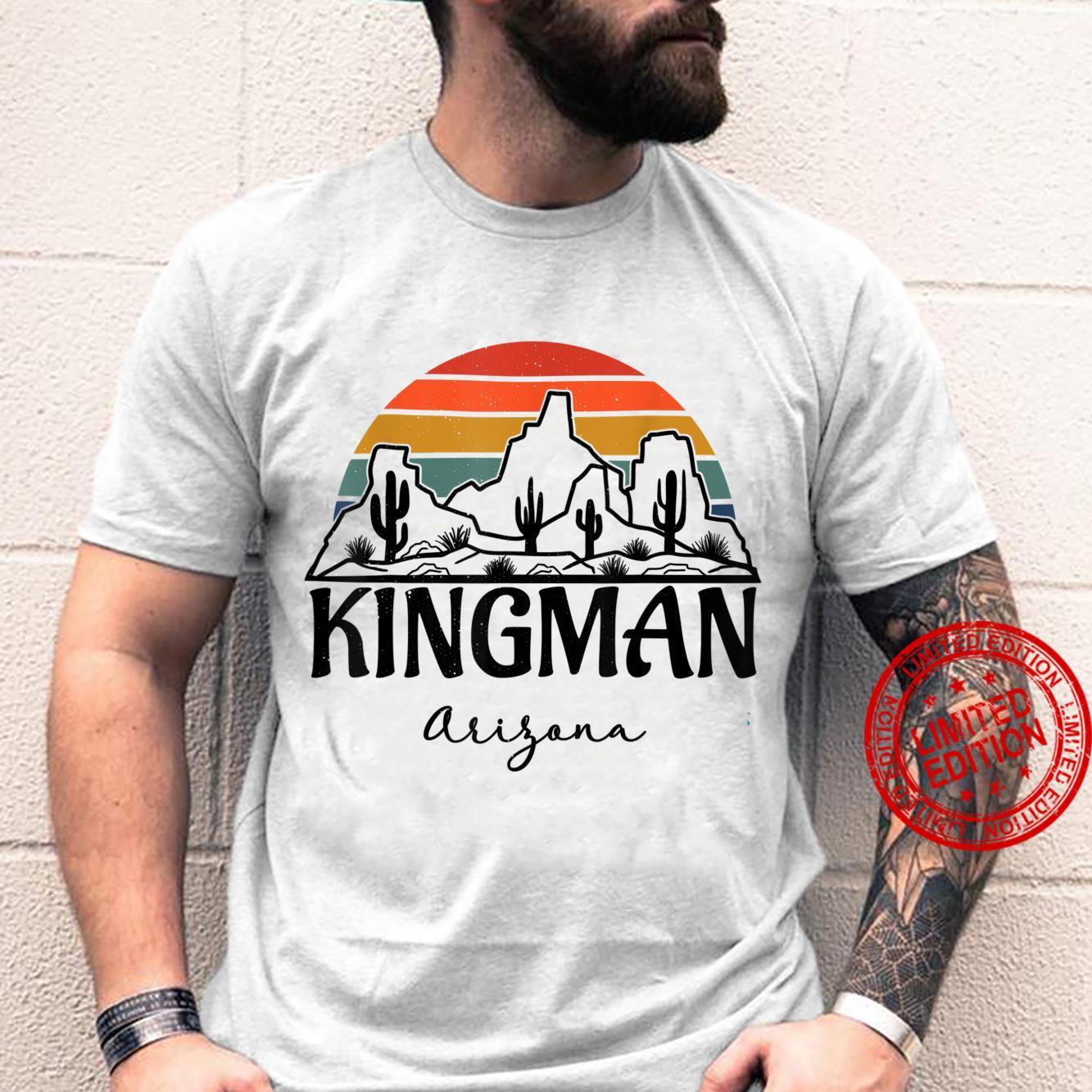Kingman Arizona Western Cactus Mountain Desert Retro Shirt