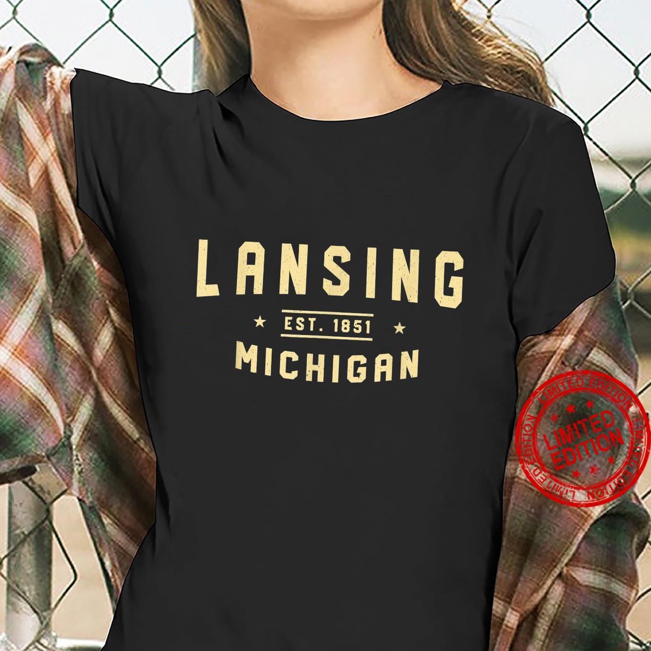 Lansing Michigan 1851 MI American Lansingite USA Resident Shirt ladies tee