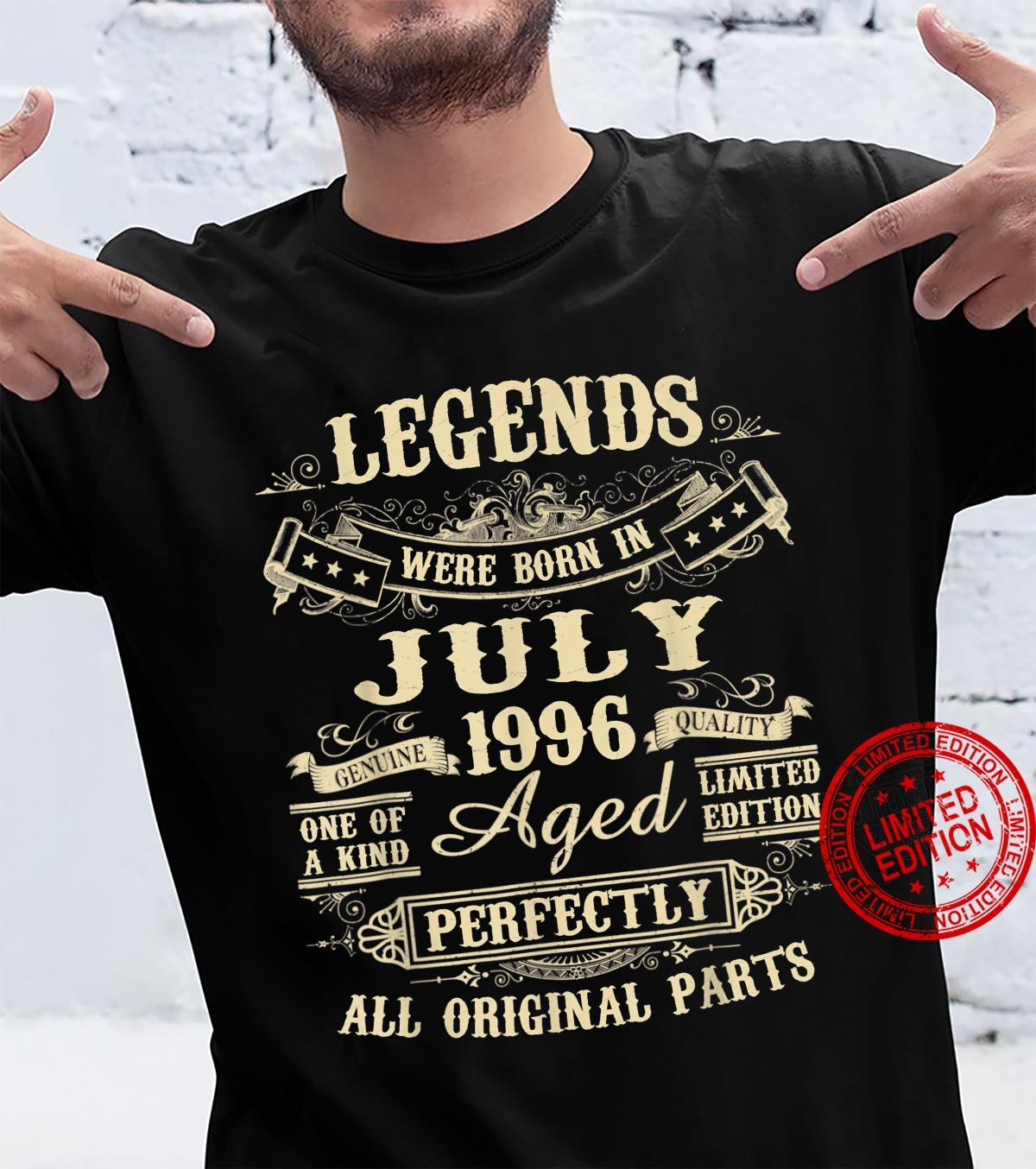 Legends Were Born In July 1996 25th Birthday Shirt