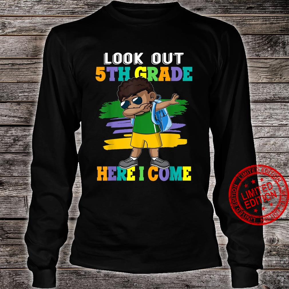 Look Out 5th Grade Dabbing Boys Back to School Supplies Shirt long sleeved