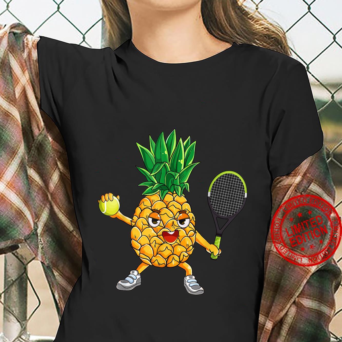 Pineapple Tennis Player Summer Vacation Shirt ladies tee