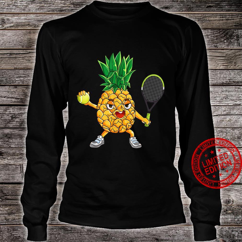 Pineapple Tennis Player Summer Vacation Shirt long sleeved
