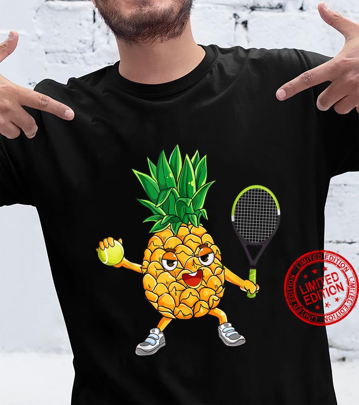 Pineapple Tennis Player Summer Vacation Shirt