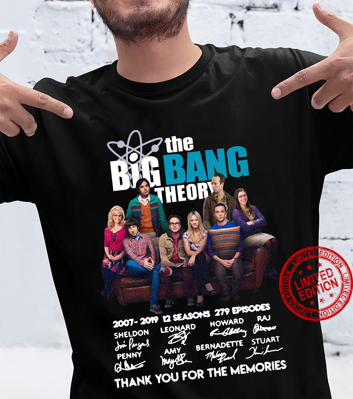 The Big Bang Theory 2007-2019 12 seasons 279 episodes signatures shirt