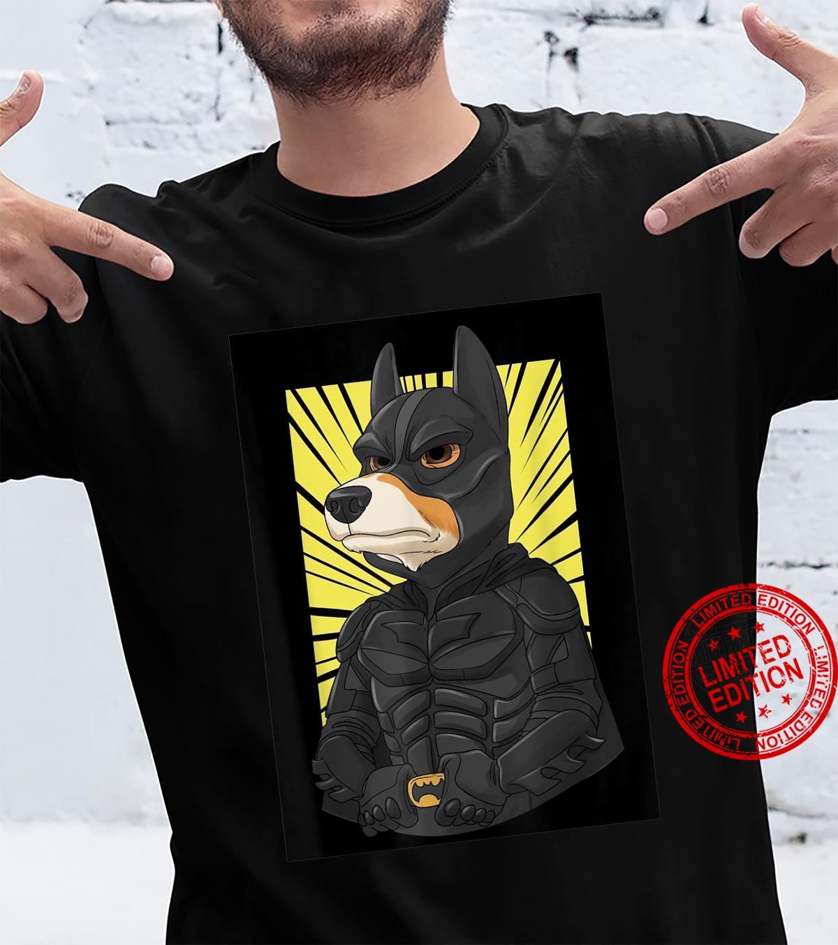 The Dark Corgi Superhero Design Motive Dog Crypto Meme Shirt
