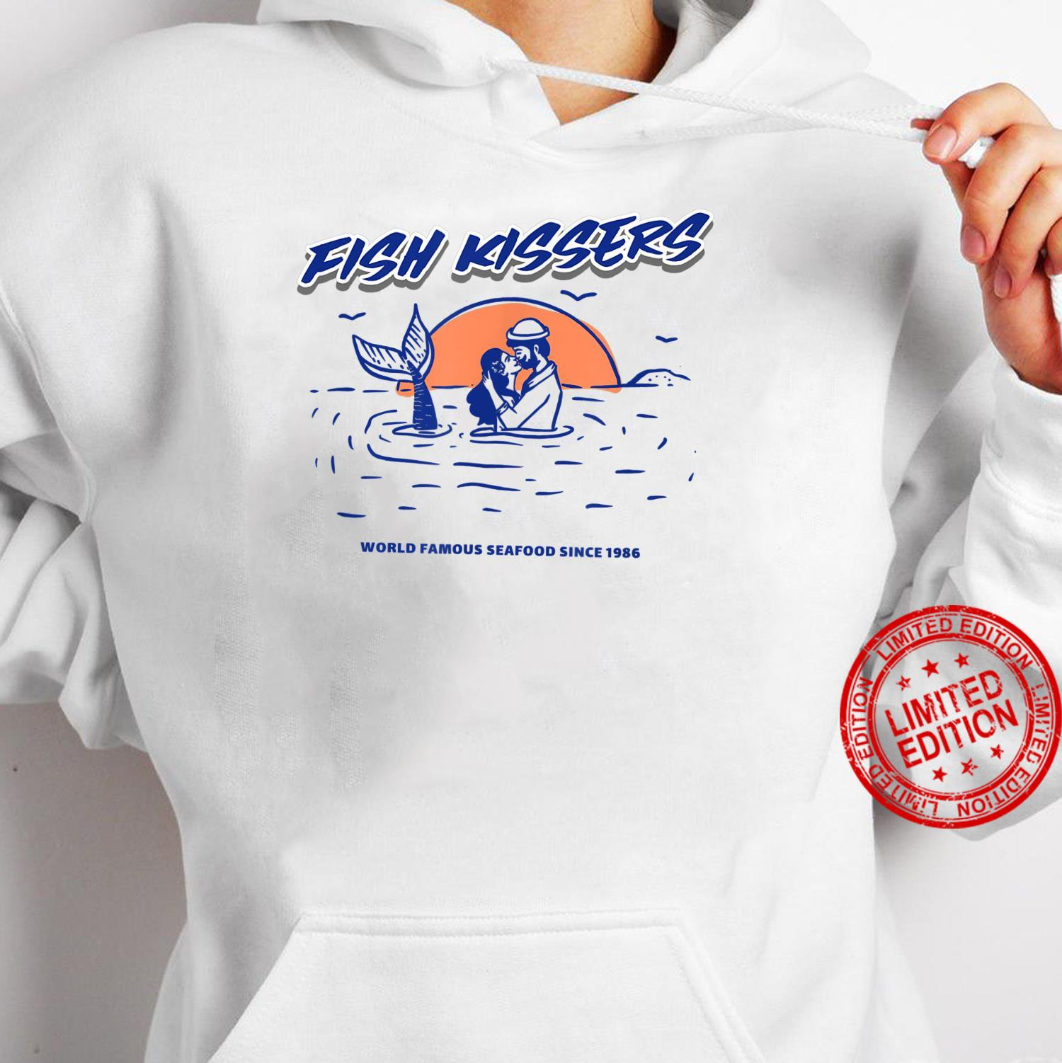 Vintage Fish Kissers Seafood Maritime Design Shirt hoodie