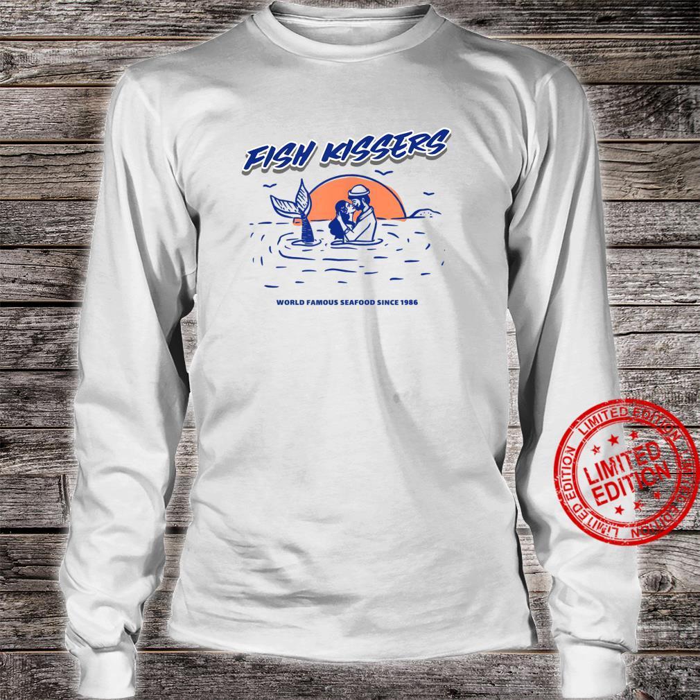 Vintage Fish Kissers Seafood Maritime Design Shirt long sleeved