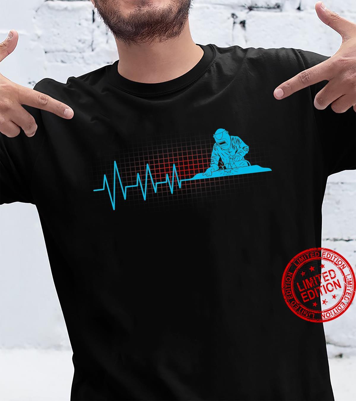 Welder Heartbeat Metalworker Welding Welders Shirt