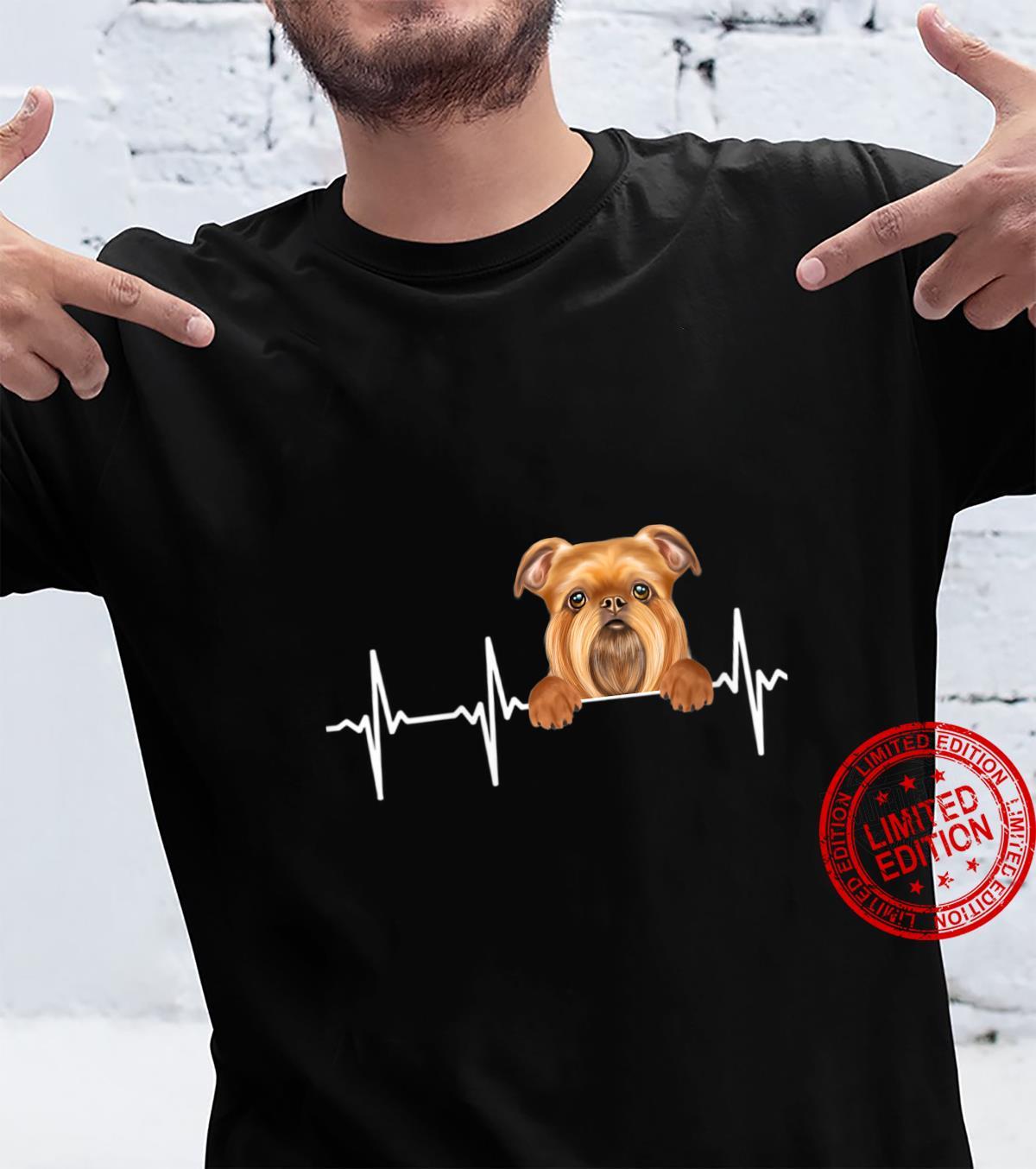 Womens Dog Heartbeat For Brussels Griffons Shirt
