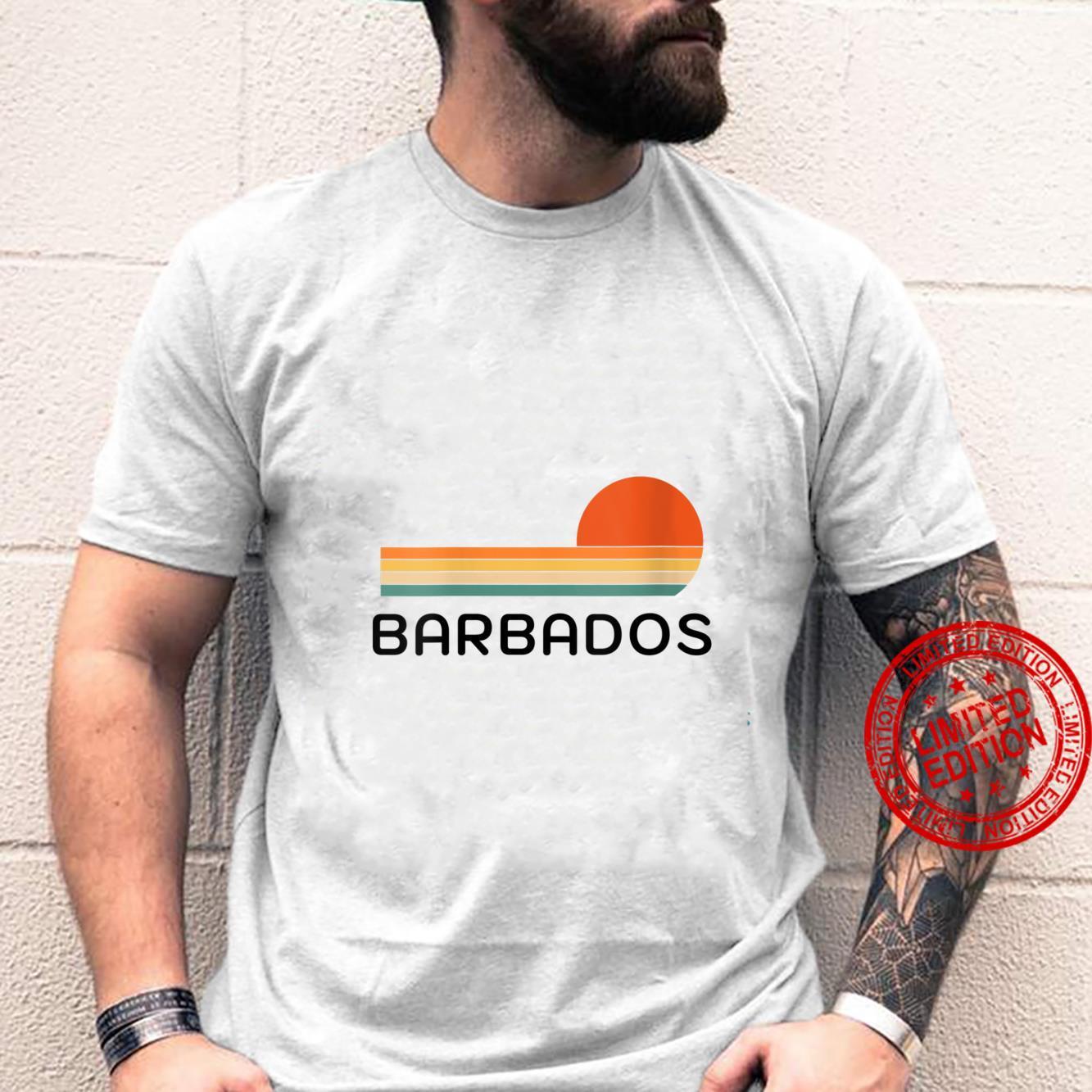 Womens Original Barbados Palm Tree Design Novelty Art Shirt