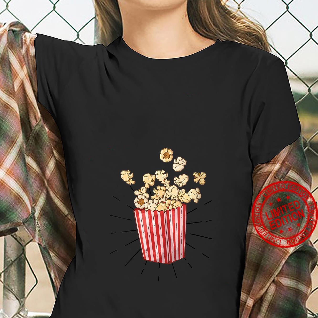 Womens Retro vintage Popcorn for cinema and living room popcorn Shirt ladies tee