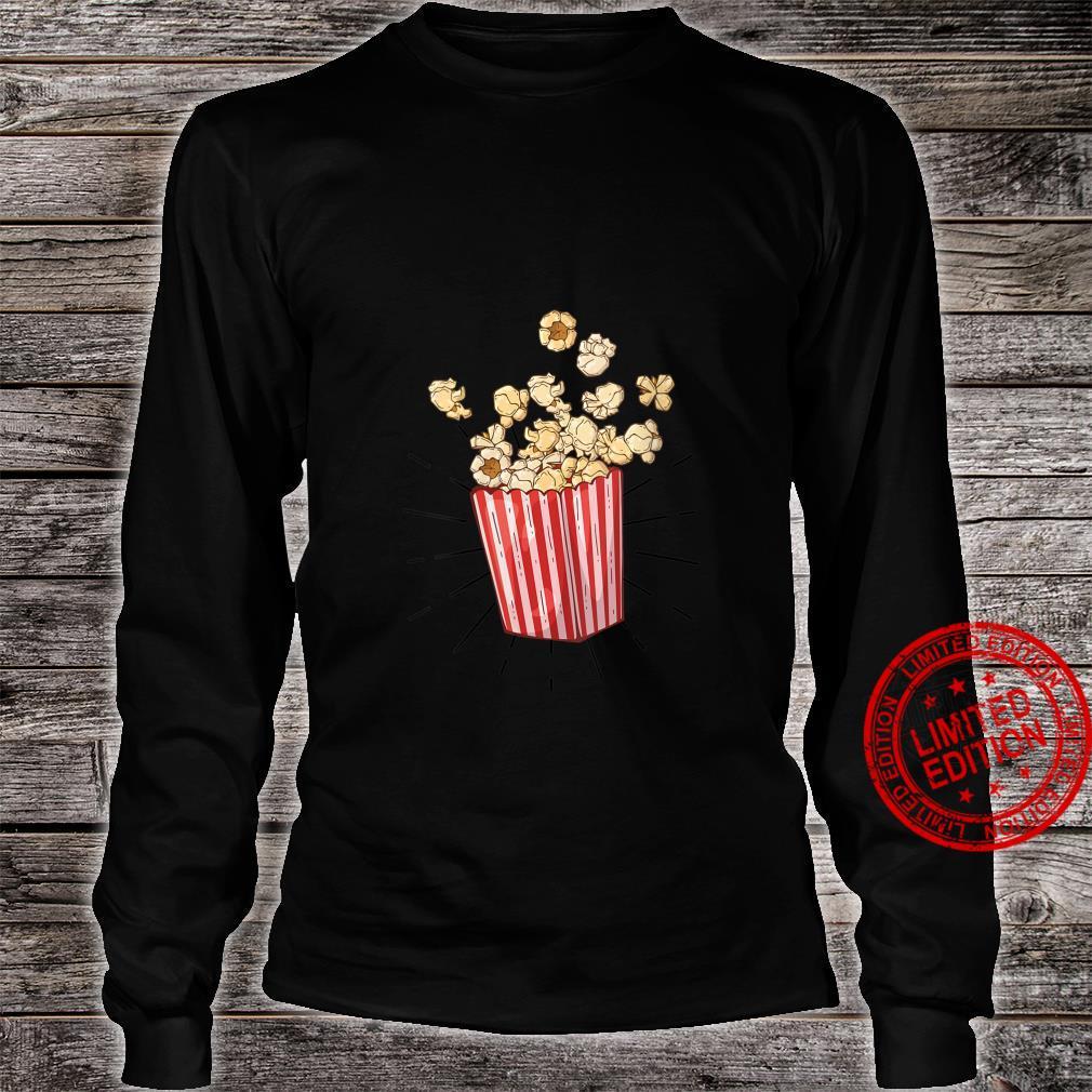 Womens Retro vintage Popcorn for cinema and living room popcorn Shirt long sleeved