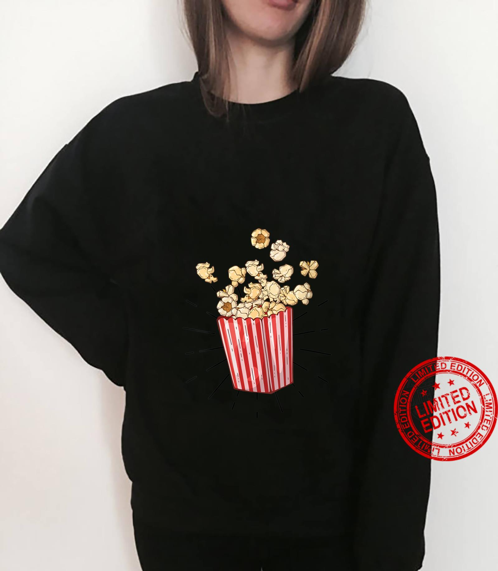 Womens Retro vintage Popcorn for cinema and living room popcorn Shirt sweater