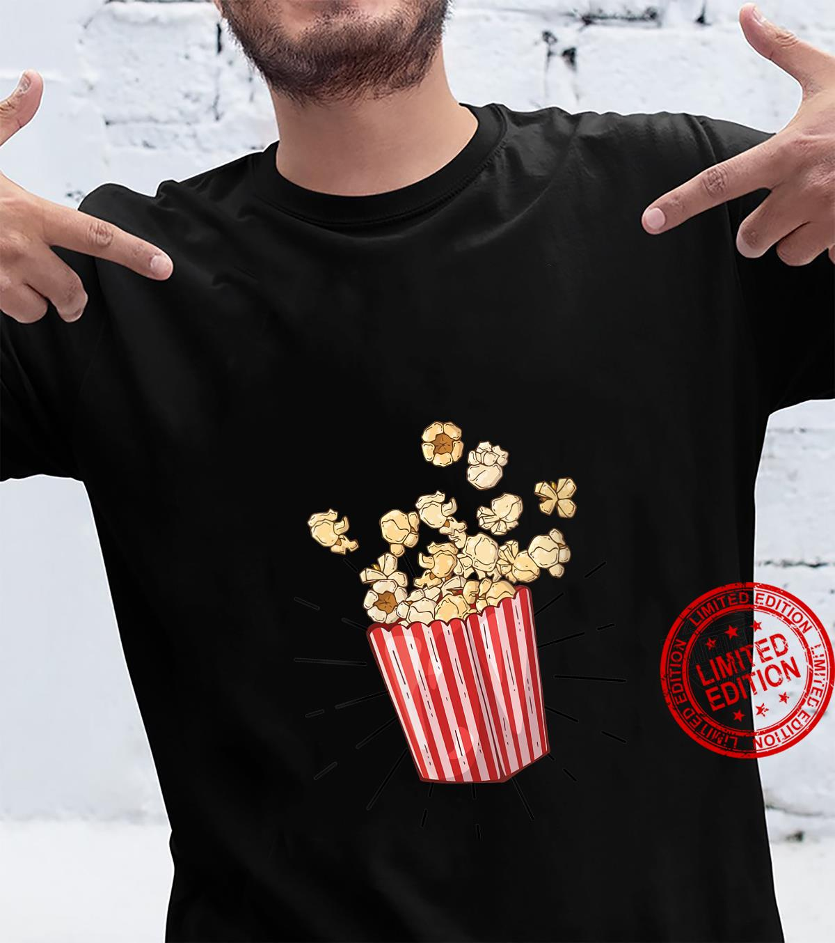 Womens Retro vintage Popcorn for cinema and living room popcorn Shirt