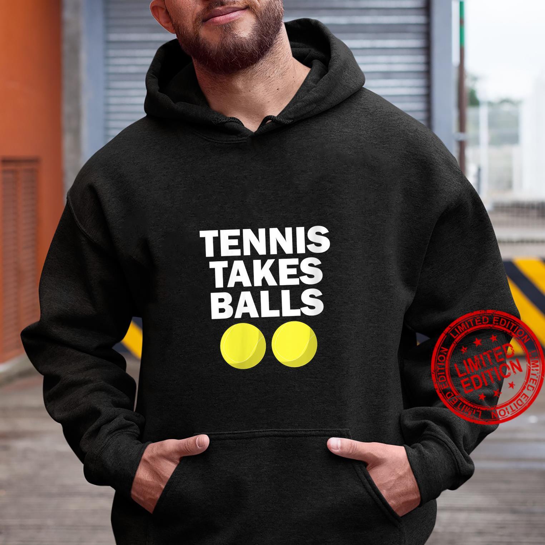 Womens Tennis Takes Balls Tennis Shirt hoodie