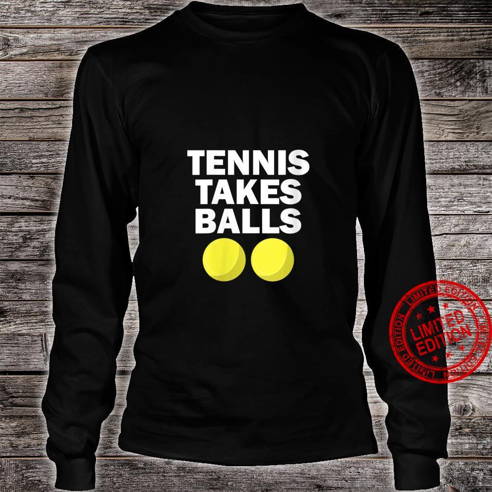 Womens Tennis Takes Balls Tennis Shirt long sleeved