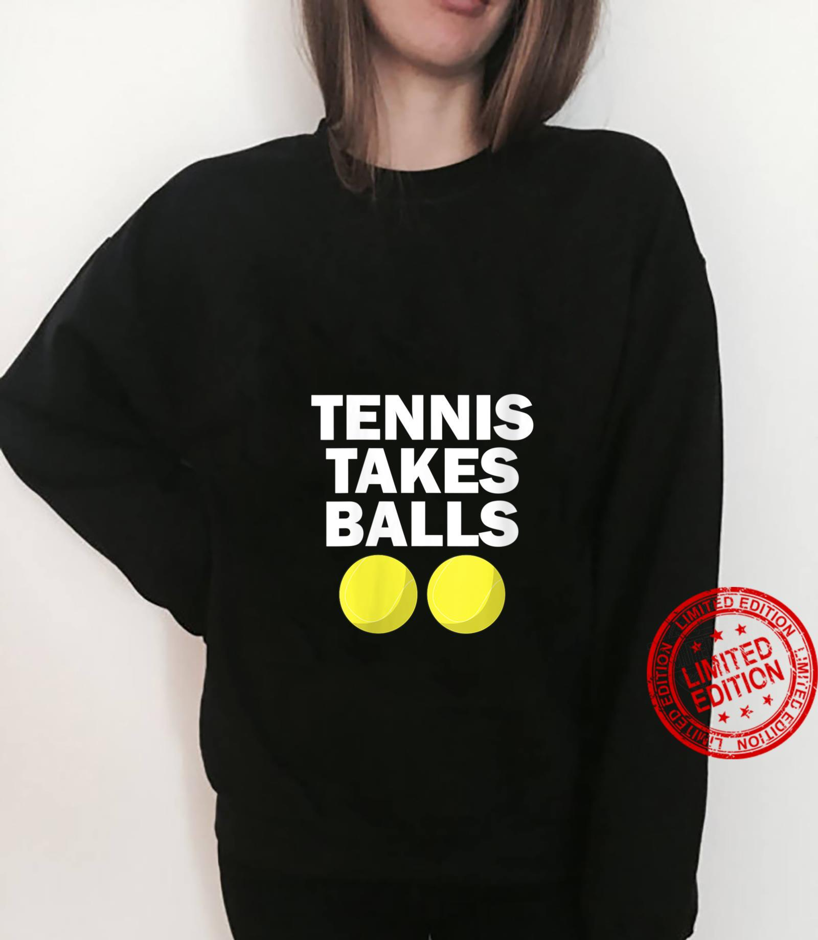 Womens Tennis Takes Balls Tennis Shirt sweater