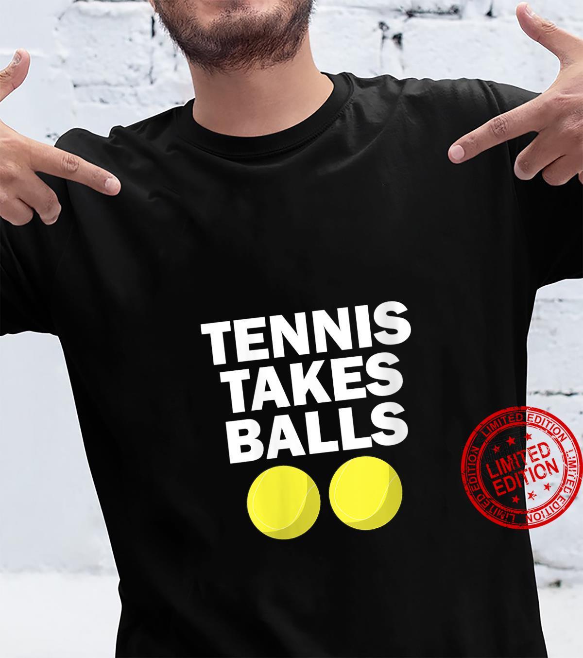 Womens Tennis Takes Balls Tennis Shirt