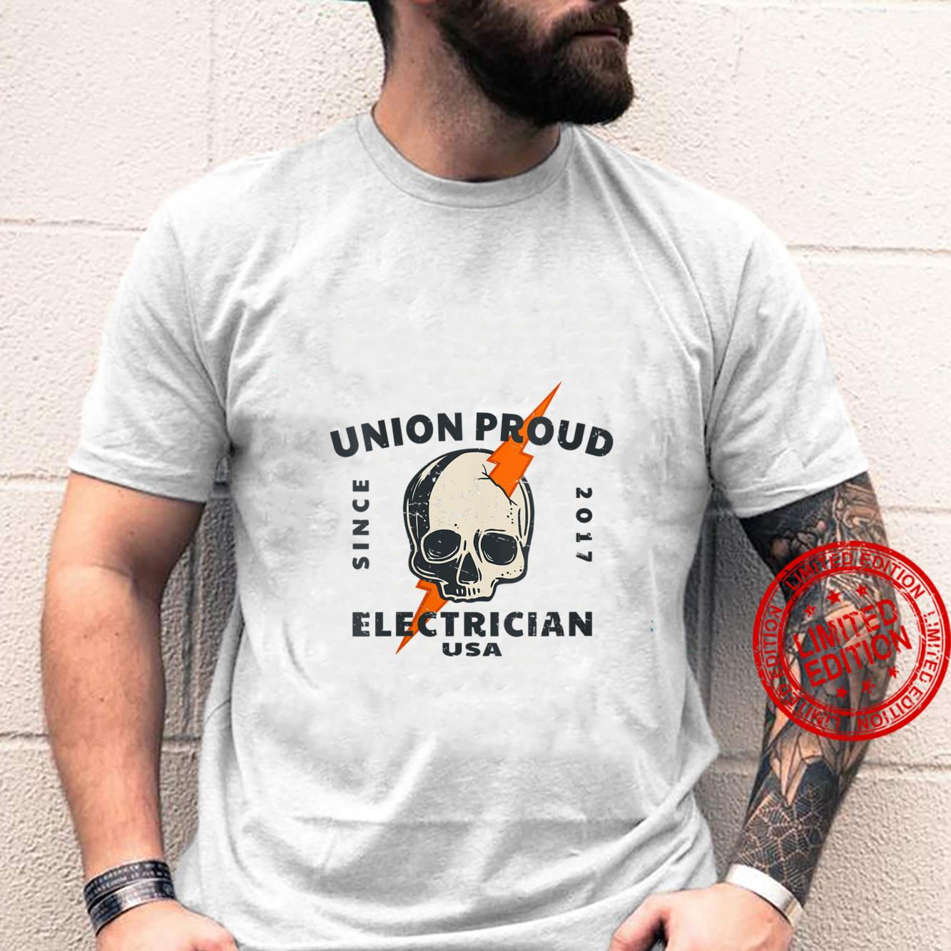Womens Union Proud Electrician Since 2017 American Electrical Labor Shirt