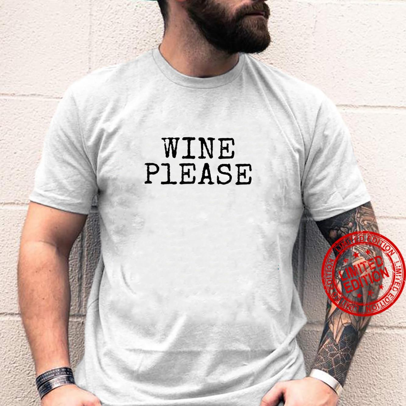Womens Wine Please Shirt