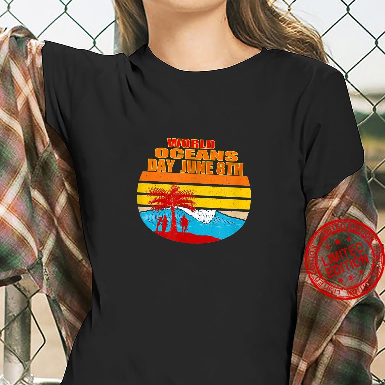 World Oceans Day Shirt ladies tee