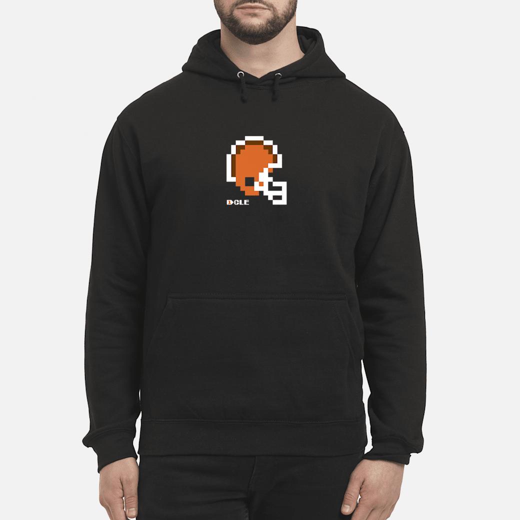 8Bit Cleveland Retro Vintage Video Game Football Helmet Shirt hoodie