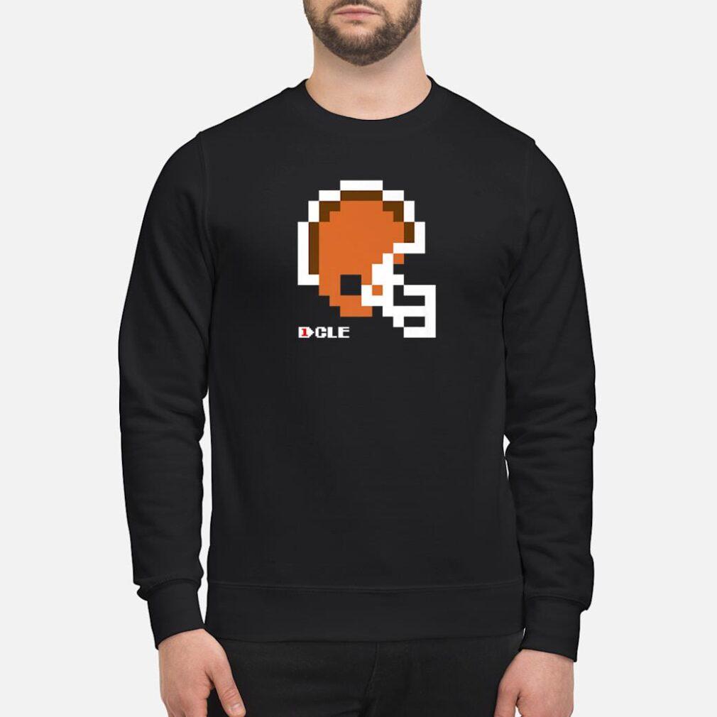 8Bit Cleveland Retro Vintage Video Game Football Helmet Shirt sweater