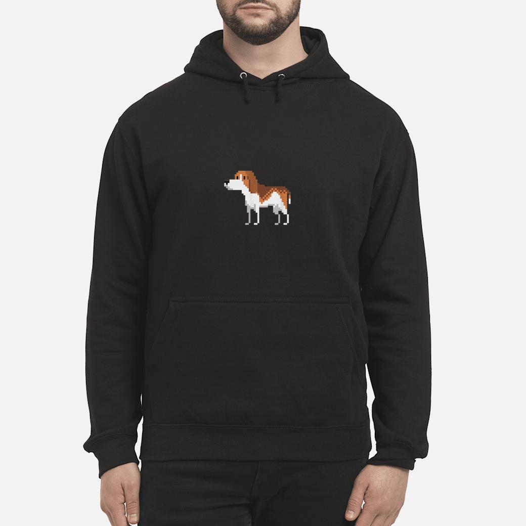 8bit Beagle Dog Shirt hoodie