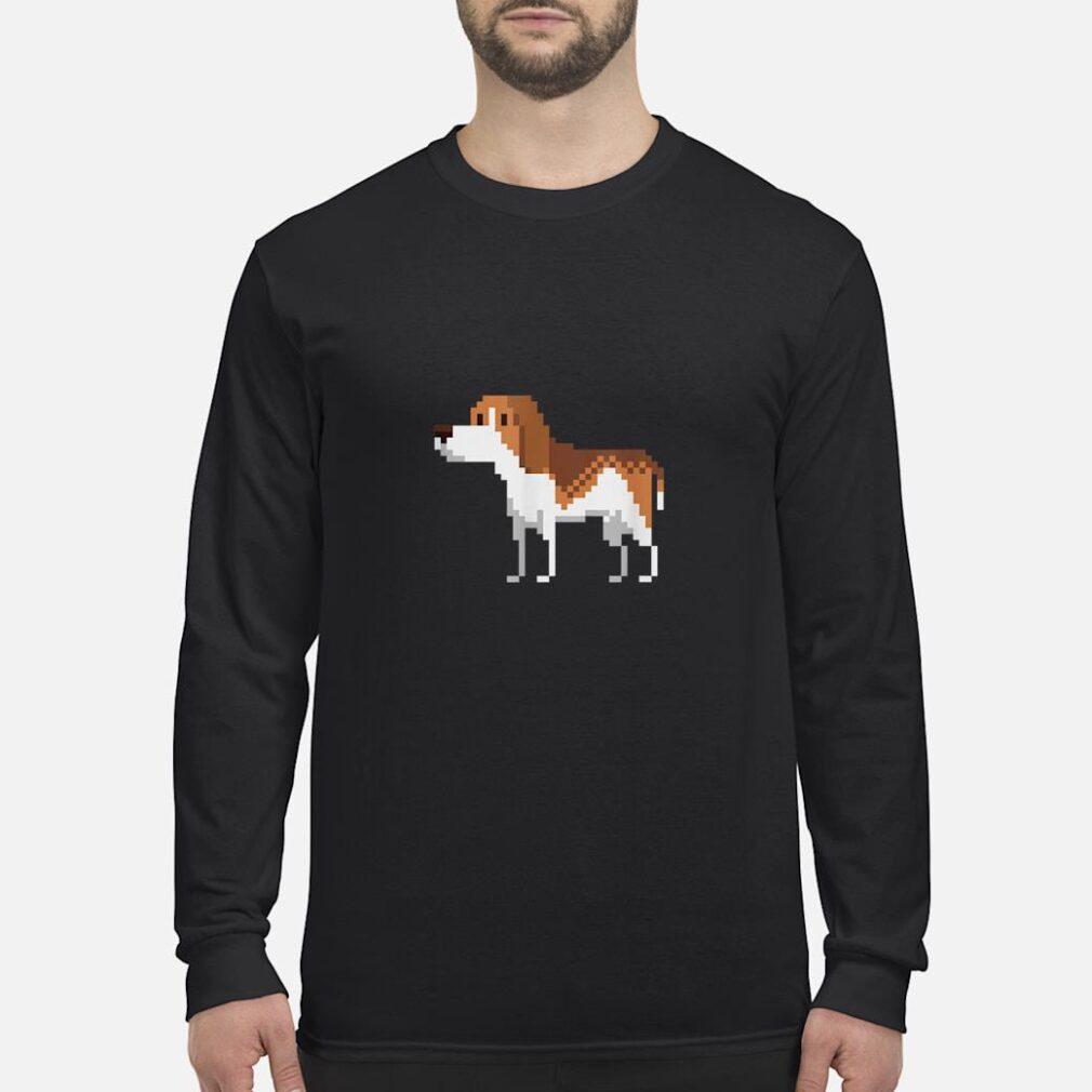 8bit Beagle Dog Shirt long sleeved