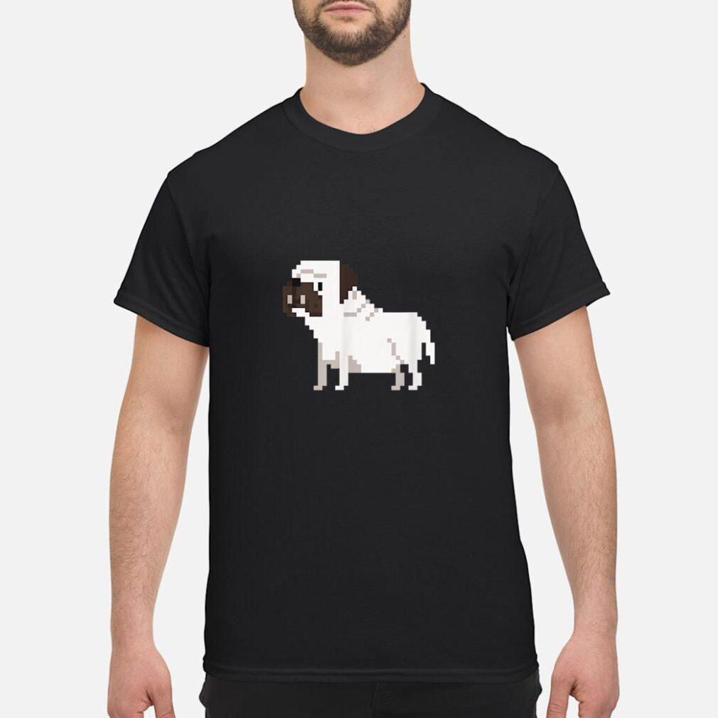 8bit Bulldog Dog Shirt