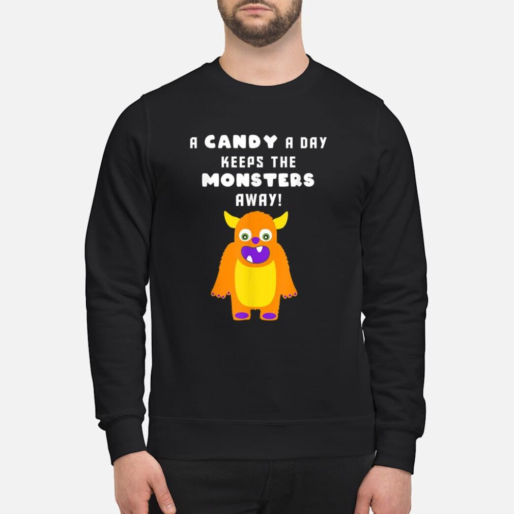 A Candy A Day Keeps the Monsters Away Halloween Monster Cute Shirt sweater