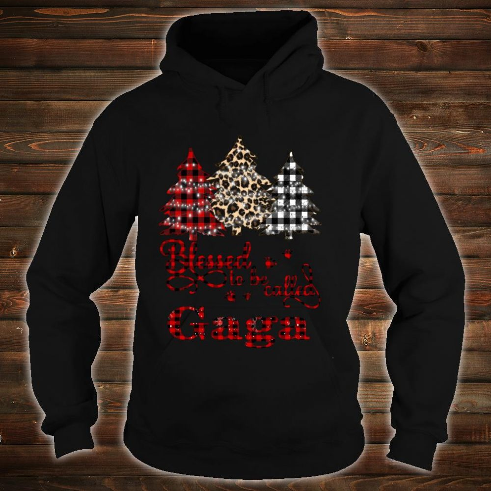 Blessed to be called Gaga Christmas Tree Shirt hoodie
