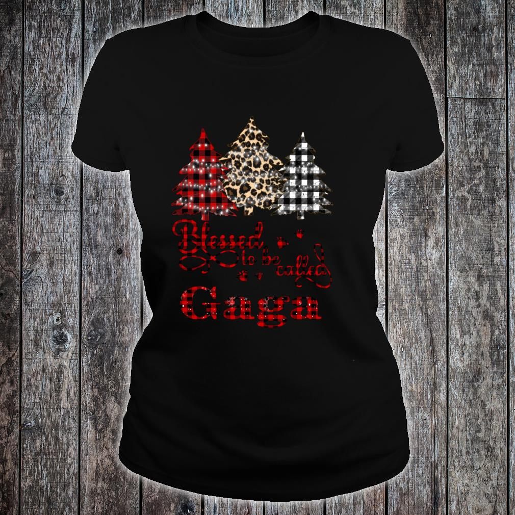 Blessed to be called Gaga Christmas Tree Shirt ladies tee