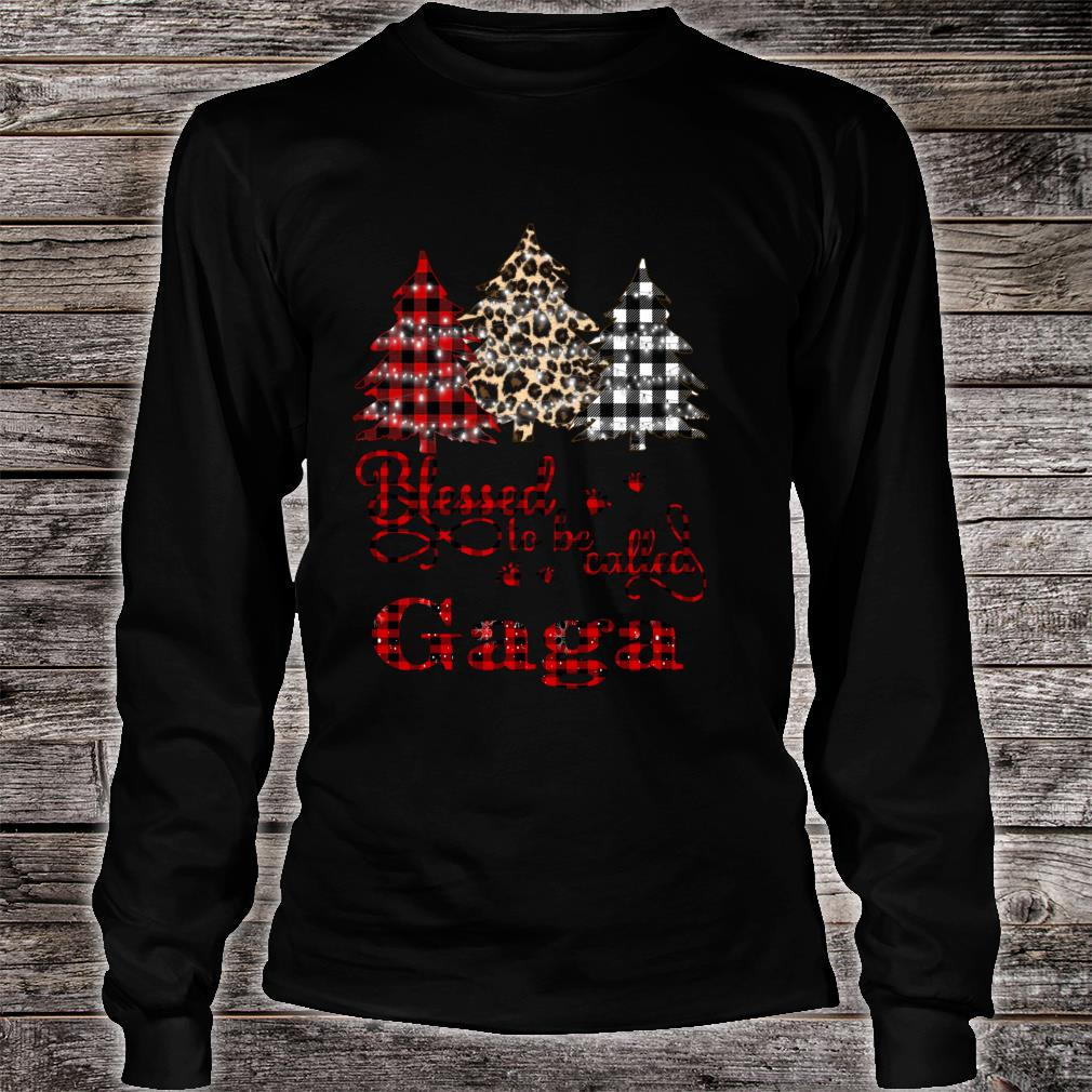 Blessed to be called Gaga Christmas Tree Shirt long sleeved