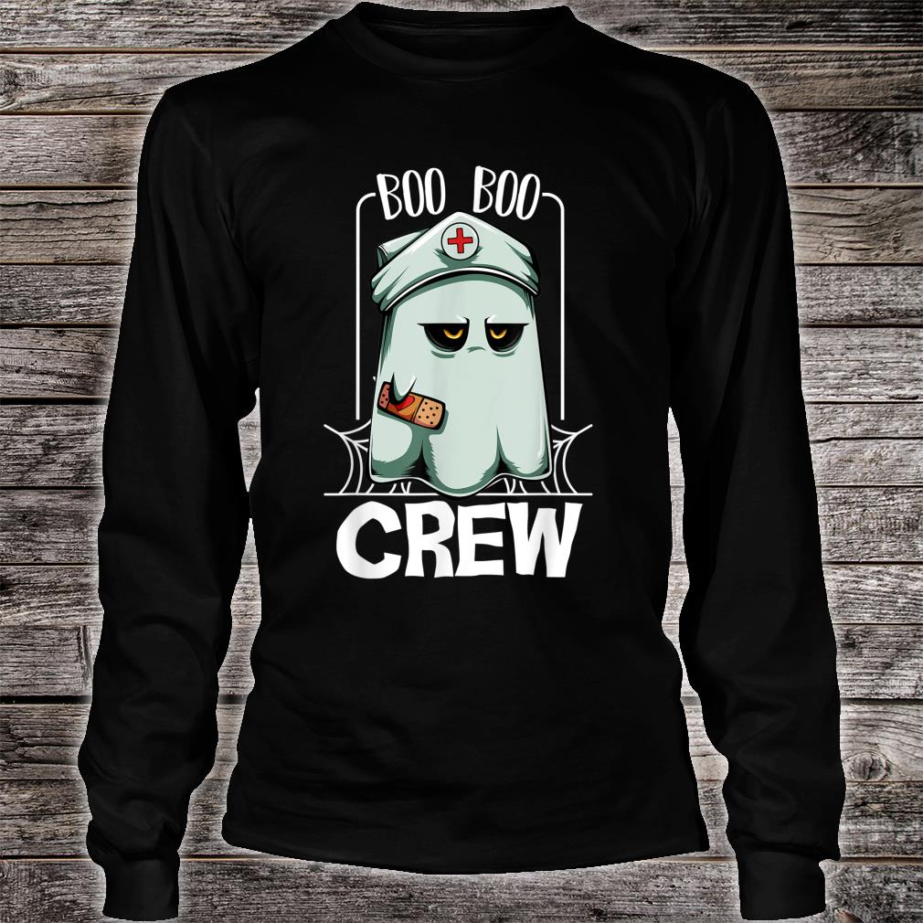 Boo Boo Crew Nurse Ghost Scary Halloween Quotes Shirt long sleeved