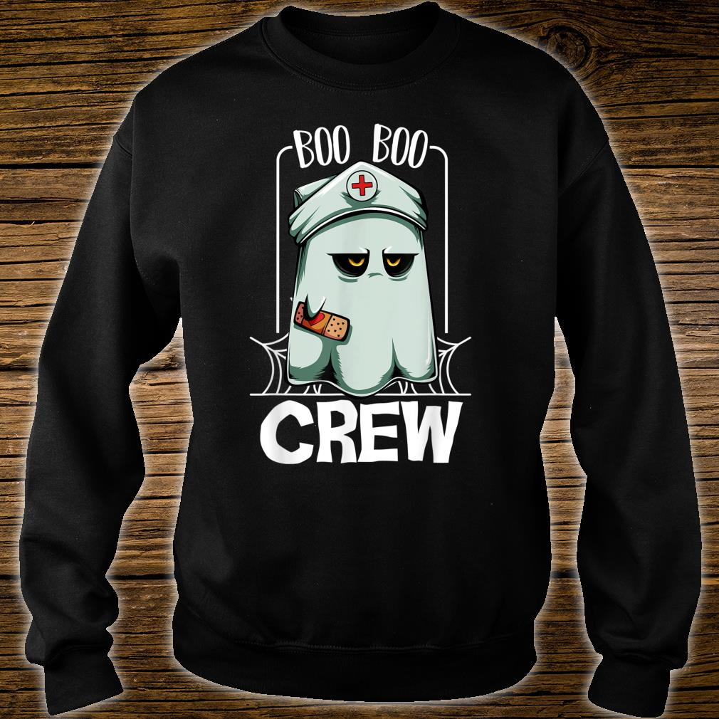 Boo Boo Crew Nurse Ghost Scary Halloween Quotes Shirt sweater