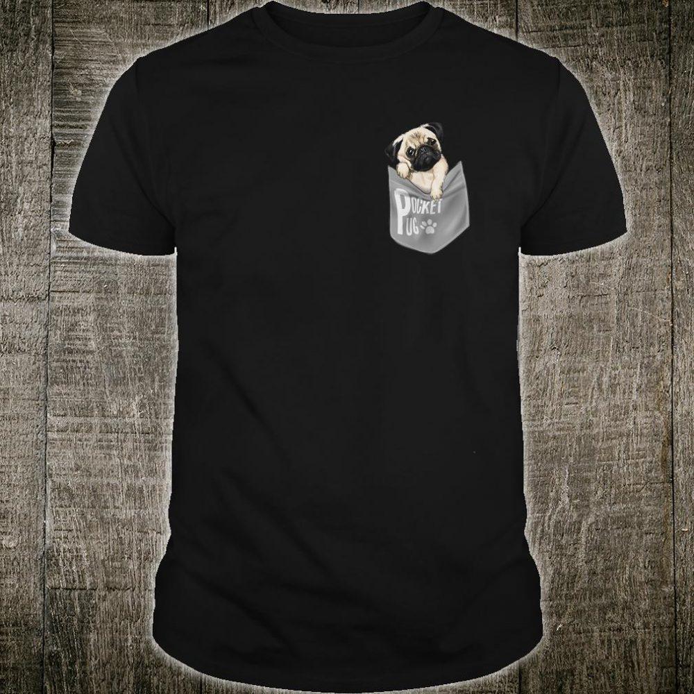 Cute Pug in Pocket Shirt