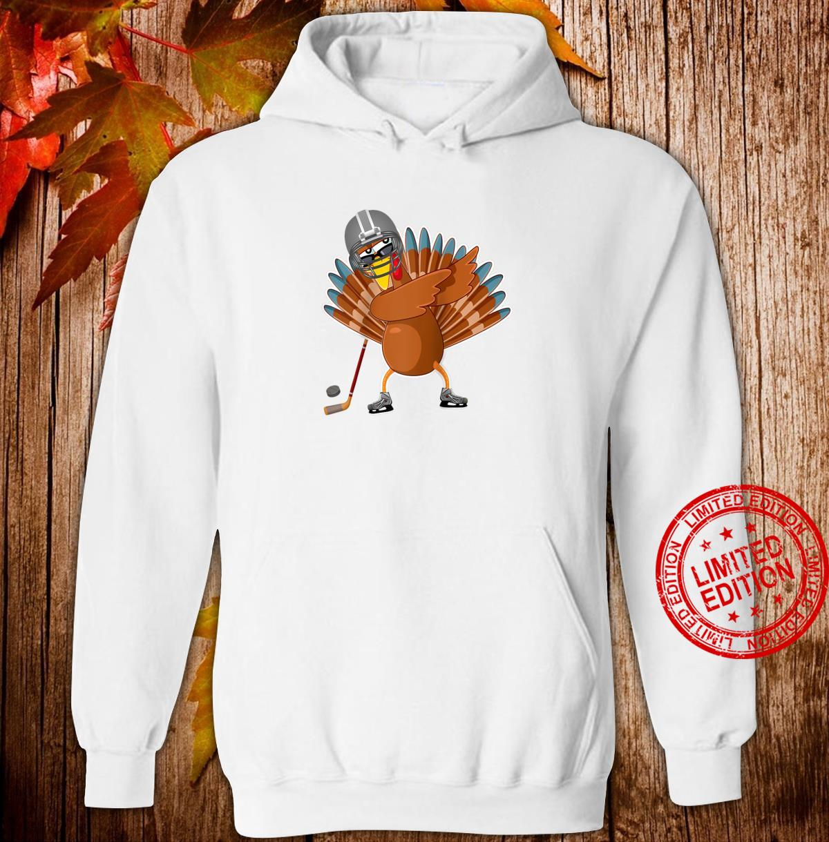 Dabbing turkey ice hockey player Thanksgiving Shirt hoodie